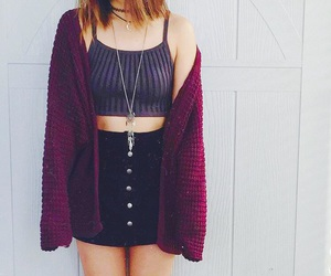 cardigan, clothing, and crop top image