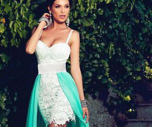 hi-lo prom dresses, sheath evening gowns, and spaghettis straps image