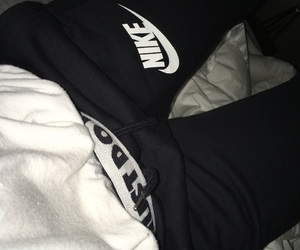 bed, Just Do It, and nike image