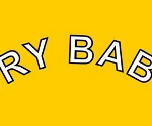 header, cry baby, and yellow image