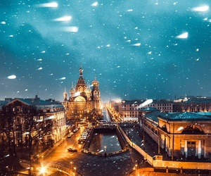 lights, moscow, and new year image