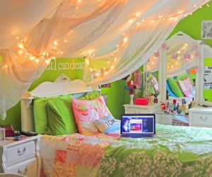 room, bedroom, and green image