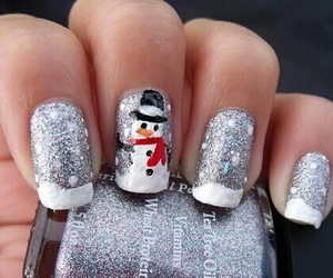 nails, snowman, and christmas image