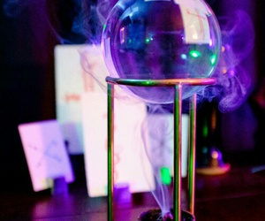 crystal ball, incense, and shivian image