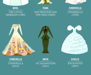 dress, disney, and wedding image