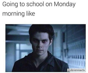 teen wolf, monday, and school image