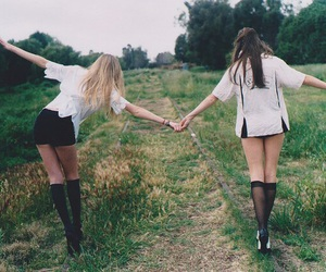girl, friends, and forever image