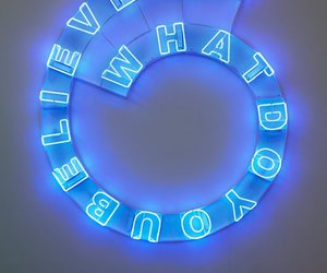 light, neon, and believe image