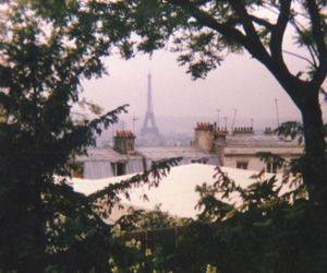 eiffel tower, roofs, and smog image