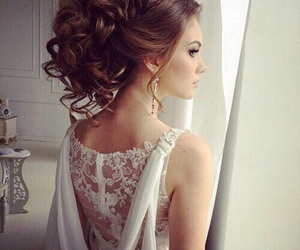 hair, wedding, and hairstyle image