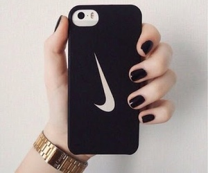 nike, black, and iphone image