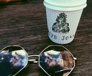 coffee, sunglasses, and glasses image