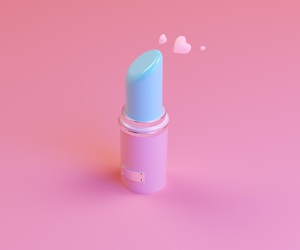 lipstick, pink, and blue image