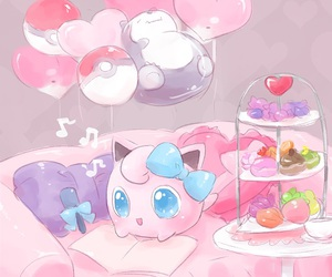 kawaii, pokemon, and pink image