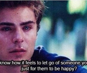 zac efron, quotes, and sad image