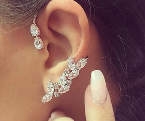 fashion, earrings, and diamond image
