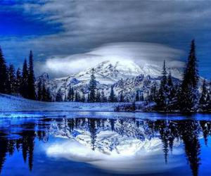 winter, beautiful, and mountains image