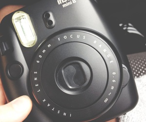 black, camera, and instax image