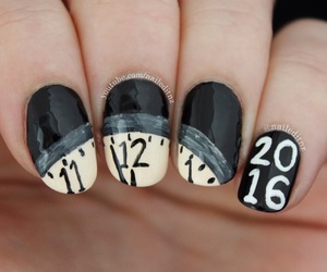 2016, nails, and new year image
