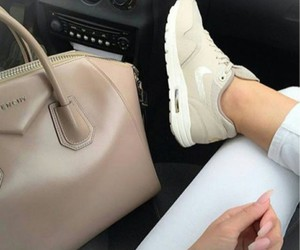 bag, beige, and sneakers image