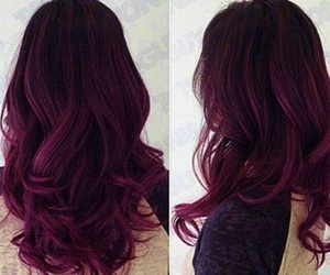 hairstyle, pretty, and purple image