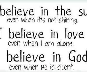 god, believe, and sun image