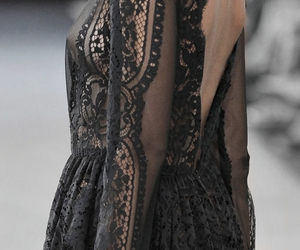 black, crochet, and dress image