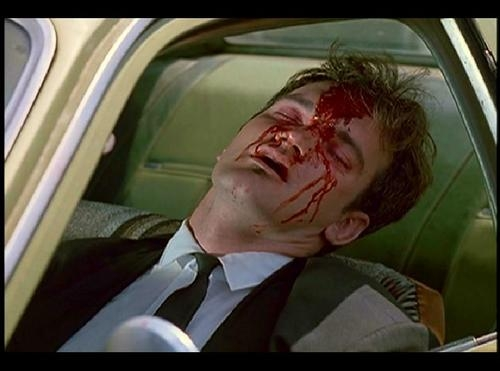 quentin tarantino, reservoir dogs, and blood image