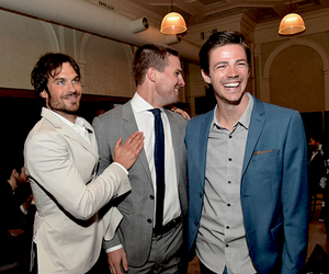 stephen amell, grant gustin, and ian somerhalder image