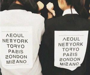 black, city, and fashion image