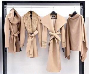 fashion, coat, and Nude image