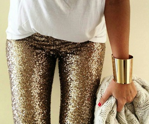 fashion, golden, and sparkly image