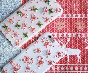 christmas, deer, and design image