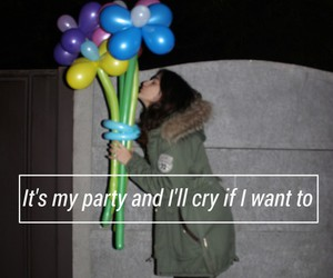 balloons, music, and pity party image