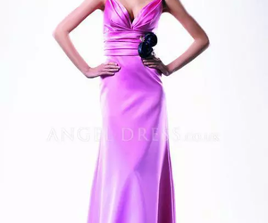 evening dress, pink, and purple image