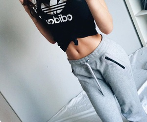 adidas, body, and sport image