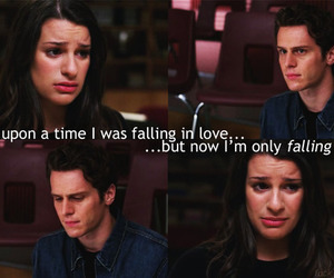 glee, jonathan groff, and lea michele image