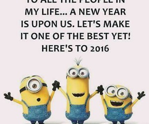 2016, minion, and new year image
