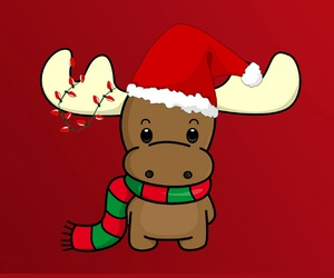 draw, red, and reindeer image