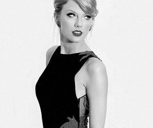 black and white, Taylor Swift, and dress image