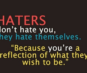 haters, quote, and reflection image