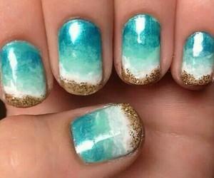 nails, beach, and nail art image