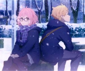 anime, kyoukai no kanata, and anime couple image