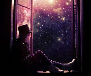 galaxy, night, and light image