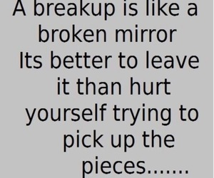 broken, quotes, and breakup image