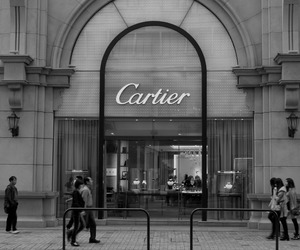 cartier, black and white, and luxury image