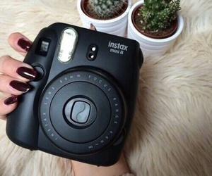 black, camera, and nails image