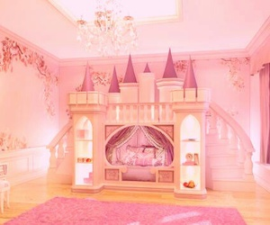 princess, castle, and pink image