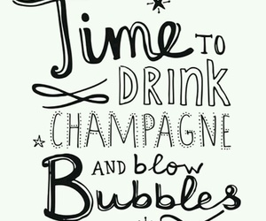 bubbels, champagne, and happy new year image