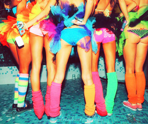 ass, girls, and rave image
